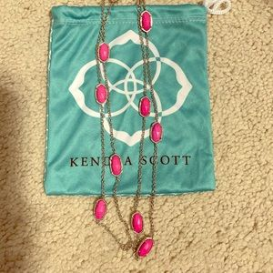 Kendra Scott Multi Stone NecklaceinMagenta&Silver